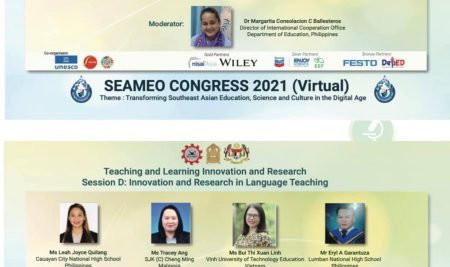 Prof. Cabrera, to represent SLSU in SEAMEO Congress 2021